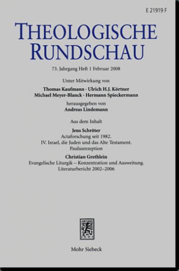 Theologische Rundschau (ThR)