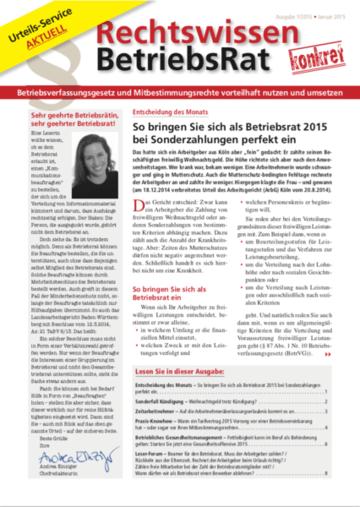 Betriebsrat Rechtswissen + Urteils-Service aktuell