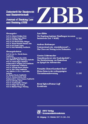 ZBB - Zeitschrift für Bankrecht und Bankwirtschaft