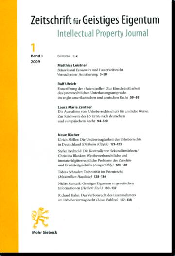 Zeitschrift für Geistiges Eigentum / Intellectual Property Journal (ZGE/IPJ))