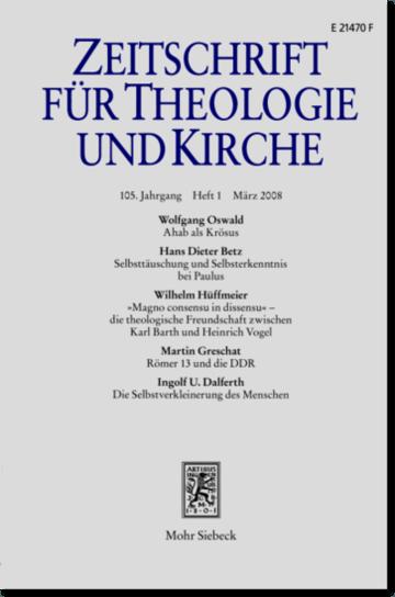 Zeitschrift für Theologie und Kirche (ZThK)