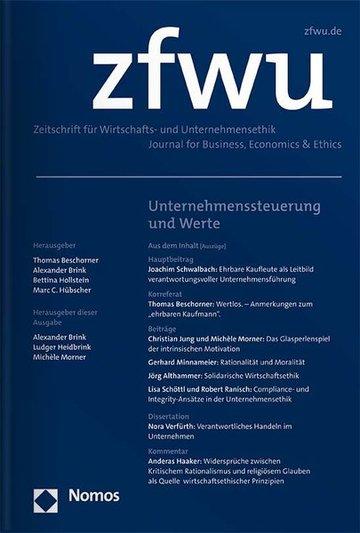 Zeitschrift für Wirtschafts- und Unternehmensethik