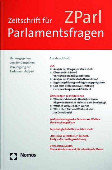 ZParl-. Zeitschrift für Parlamentsfragen