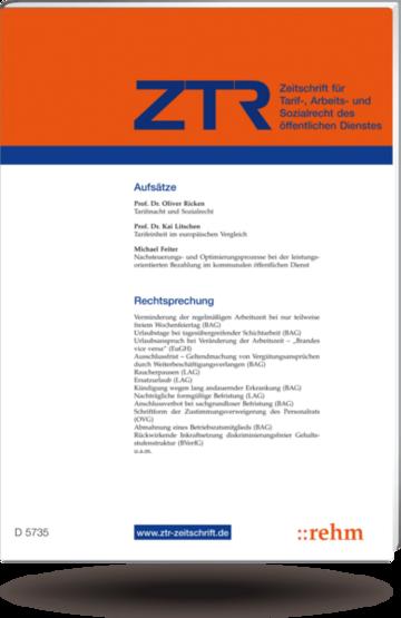 ZTR Zeitschrift für Tarifrecht