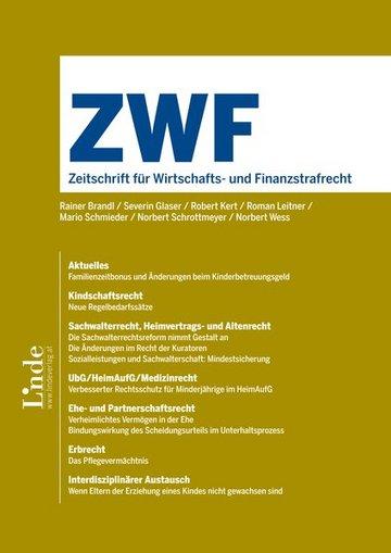 ZWF - Zeitschrift für Wirtschafts- und Finanzstrafrecht
