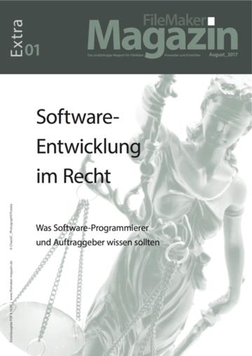 FileMaker Magazin EXTRA01: Software-Entwicklung im Recht
