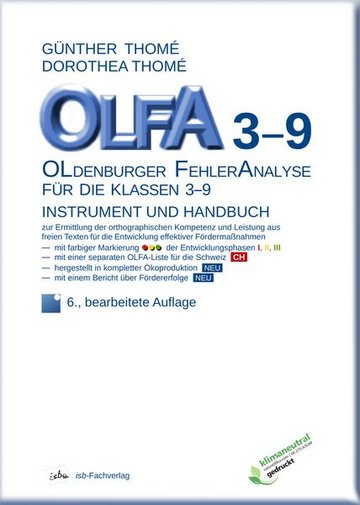 OLFA 3-9 - Oldenburger Fehleranalyse für die Klassen 3-9