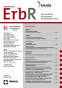 ERBR- Zeitschrift für die gesamte erbrechtliche Praxis (ErbR)