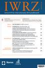 IWRZ - Zeitschrift für Internationales Wirtschaftsrecht