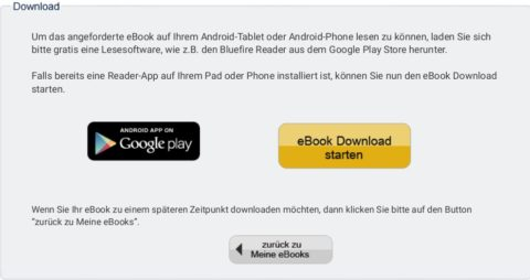 Screenshot starten des Downloads