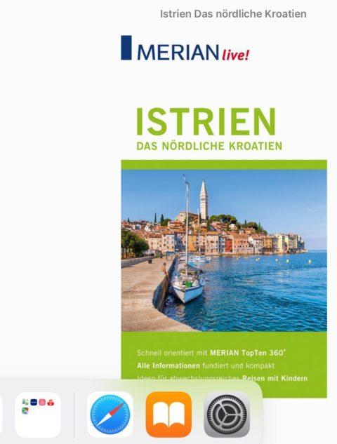 Screenshot des eBooks Istrien Reiseführer